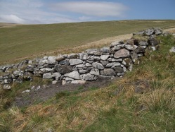 A repaired section of wall